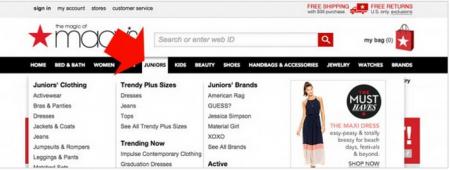 web de Macy's