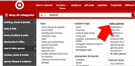 menus web Target